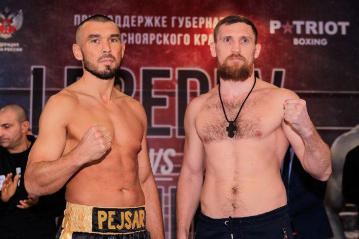 В Красноярске состоялась официальная процедура взвешивания Дениса Лебедева и Табисо Мчуну.